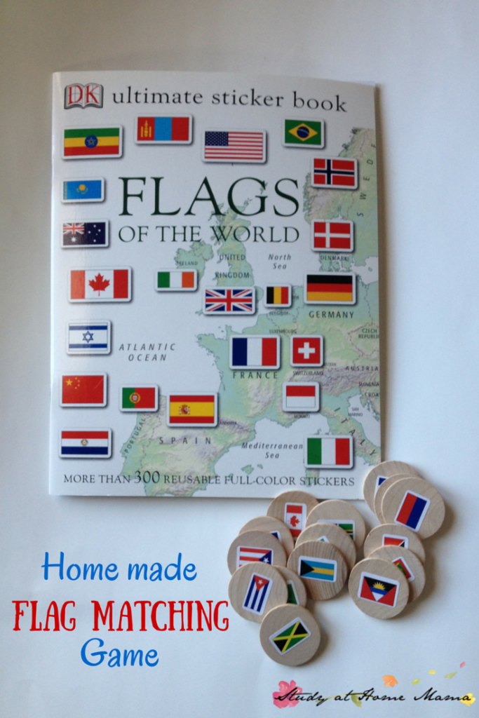 Montessori-inspired Homemade Flag Matching Game