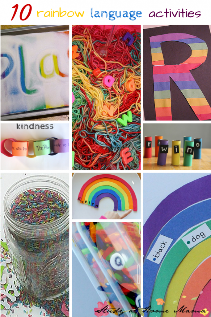 10 Rainbow Language Activities -- part of 50+ rainbow activities and snacks!