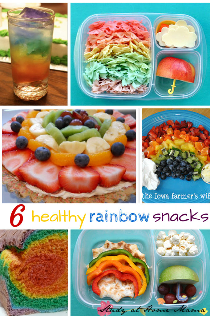 6 healthy rainbow snacks - part of 50+ rainbow activities and snacks!