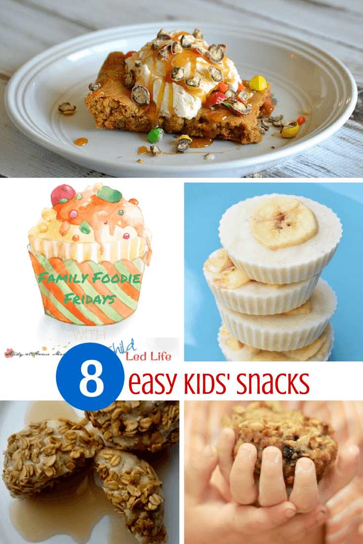 8 Easy Kids Snacks - most of them are healthy and kids can even help make them!