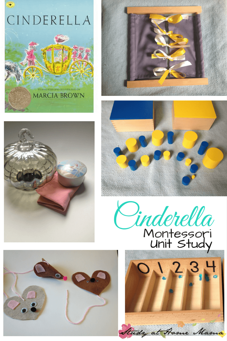 Cinderella Unit Study using Montessori practical life activities, Cinderella crafts, and multi-cultural learning