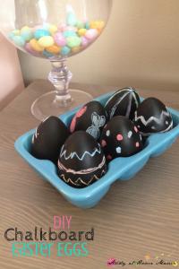 DIY Chalkboard Easter Egg