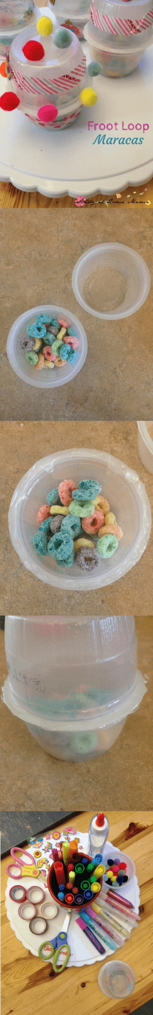 How to Make a Froot Loop Maraca Upcycled Craft for Kids