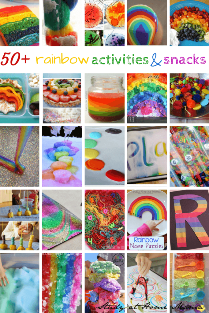 50+ rainbow activities and snacks - from sensory play ideas, to science experiments and more, this list of 50+ Rainbow Activities will keep you busy all year long