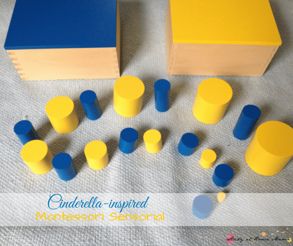 Cinderella-inspired twist to Montessori sensorial work, part of a Cinderella Unit Study