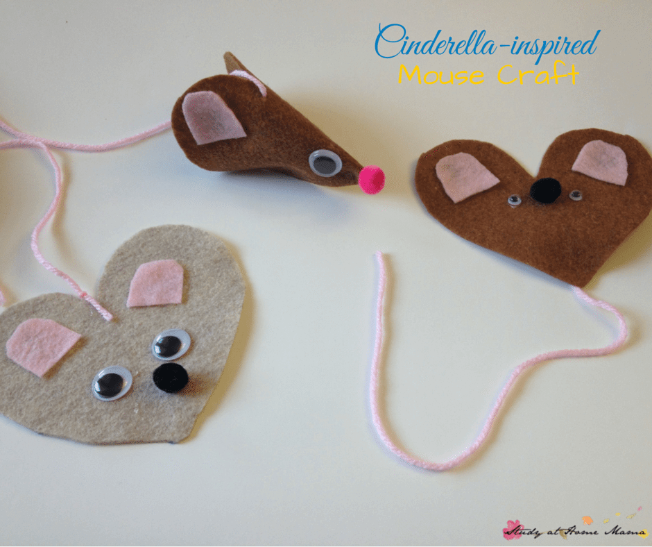 Cinderella-inspired Mouse Craft, part of a Cinderella Unit Study using Montessori Methods