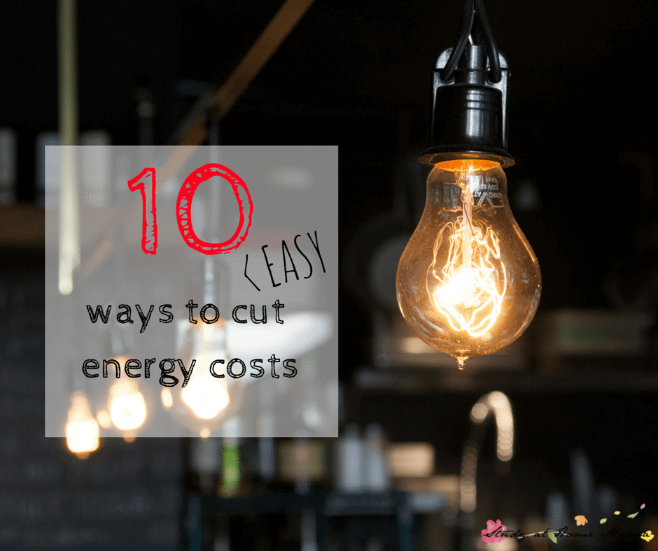 10 EASY WAYS TO CUT ENERGY COSTS