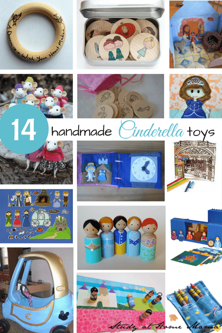 14 handmade Cinderella toys for kids. Great handmade princess gifts for kids!