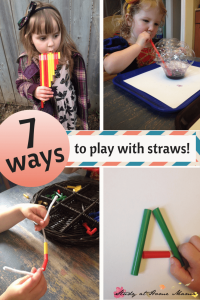 7 ways to Play with Straws