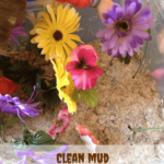 Garden Clean Mud Sensory Bin