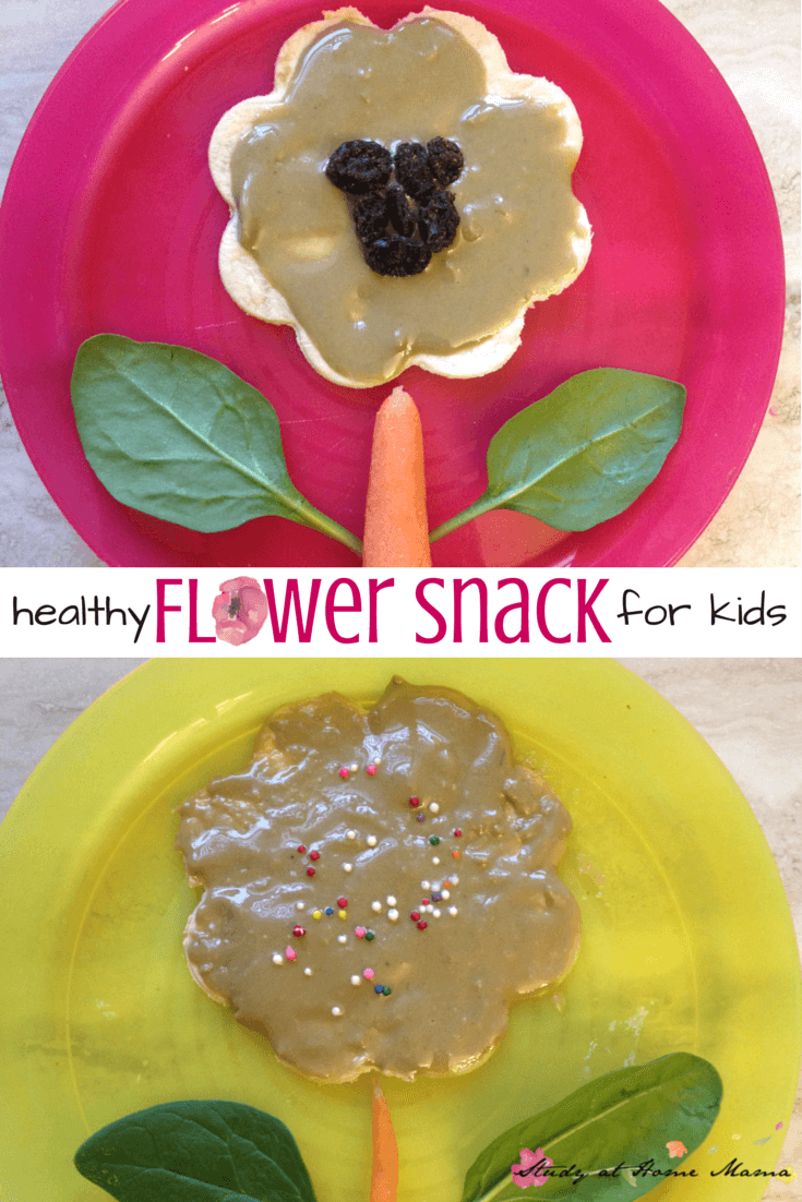 Healthy Flower Snack for kids