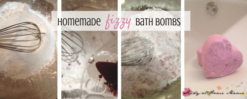 Homemade Fizzy Bath Bombs - easy enough for kids to make. A perfect frugal gift!