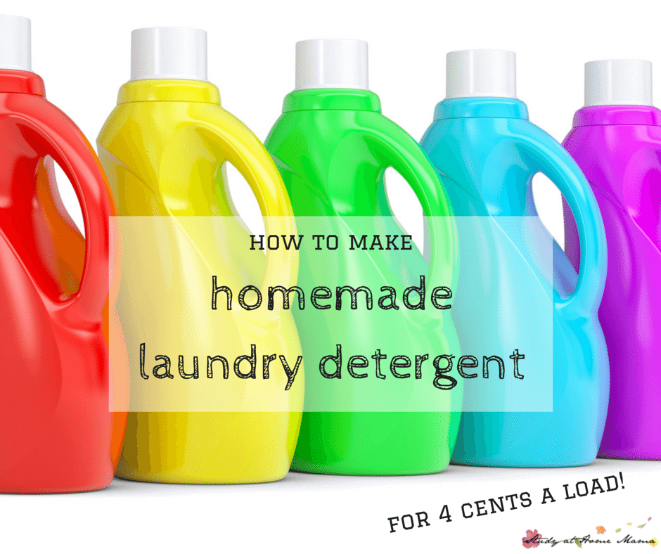 how to make Homemade Laundry Detergent recipe - works out to under 4 cents per load!
