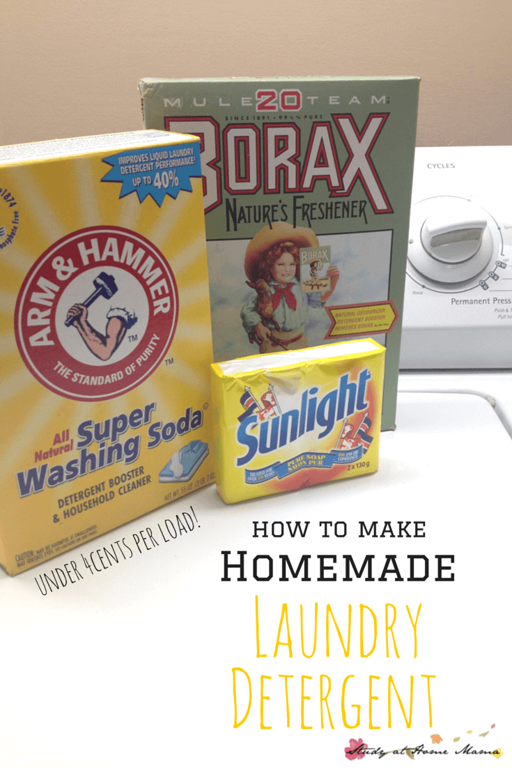 how to make HOMEMADE LAUNDRY DETERGENT -- under 4cents per load!