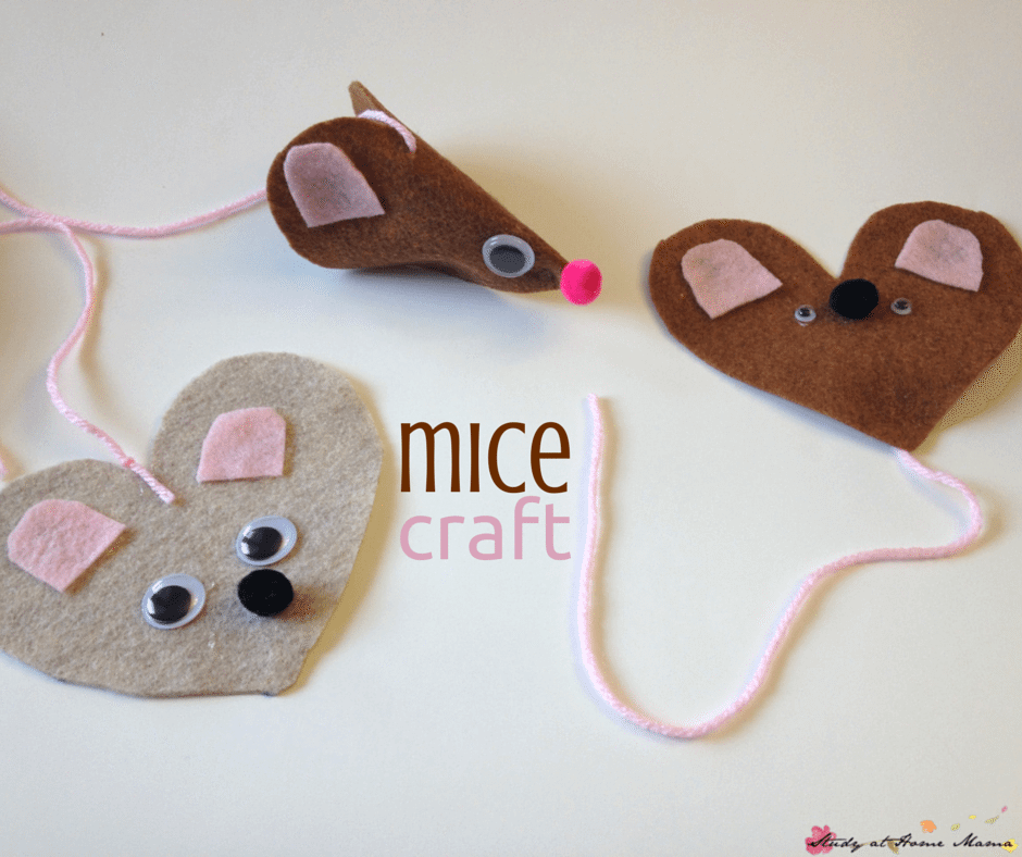 Mice Craft for Cinderella Unit Study.