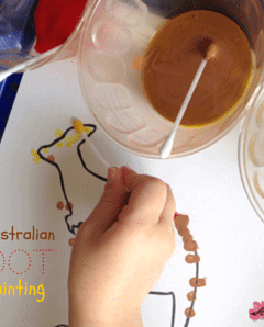 Kids Craft Ideas: Aboriginal Dot Painting