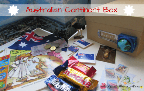 Australian Continent Box - a great way to do an Australia Unit Study or study geography for kids. Montessori Continent Boxes are such an amazing learning tool!