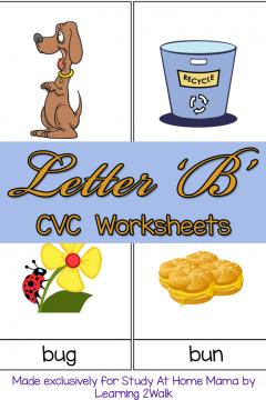 CVC Worksheets: B CVC Words