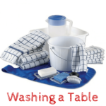 Montessori Practical Life Lesson: Washing a Table