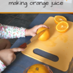 Montessori Practical Life Lesson: Squeezing Orange Juice