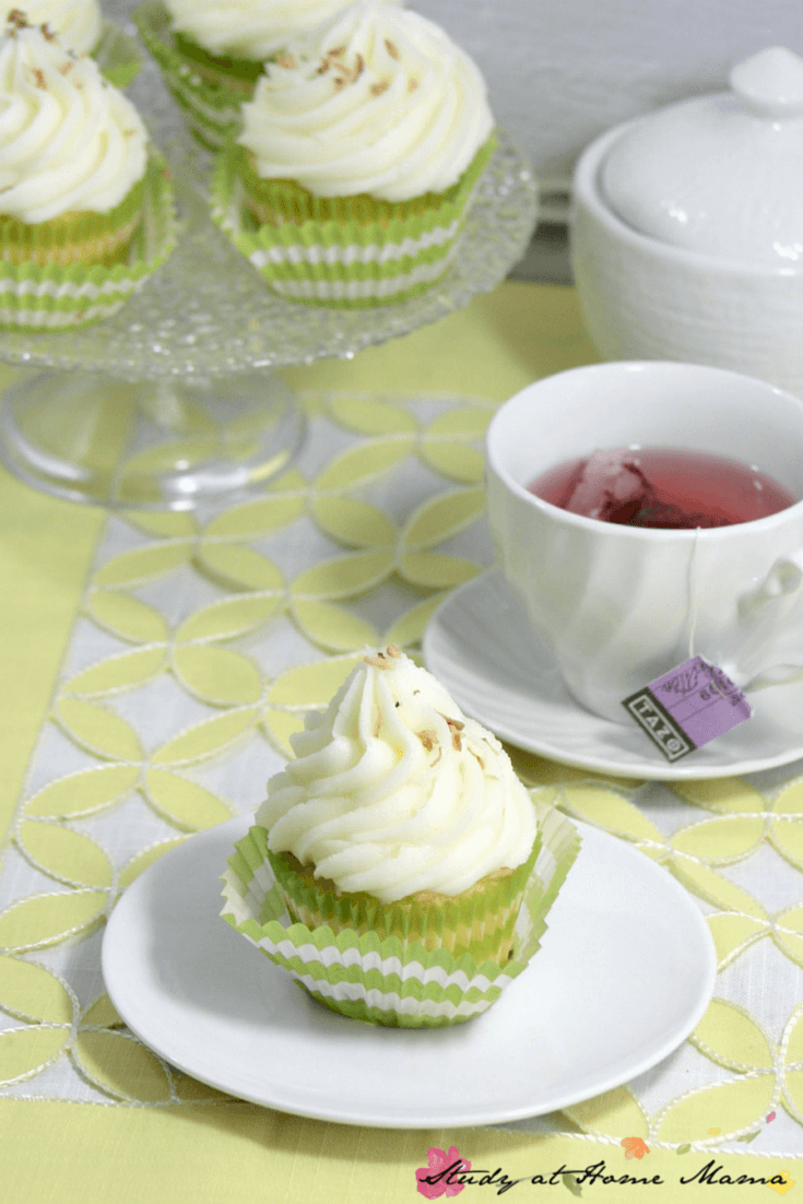 Lime Coconut Cupcakes - the perfect light and airy cupcake for your summer party.