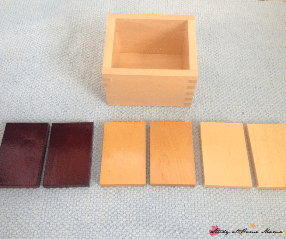 Baric tablets, part of a Budget-priced Montessori Sensorial Materials Review (Part 2): You don't need to buy premium Montessori materials in order to expect quality. This Montessori teacher shares the materials she likes from discount Montessori retailers, and which Montessori materials to avoid!
