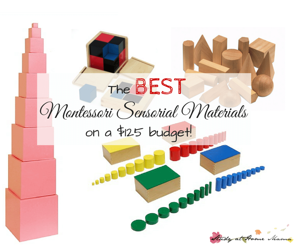 The BEST Montessori Sensorial Materials if you're on a tight budget! This Montessori teacher picks her top Montessori Sensorial materials for doing Montessori at home