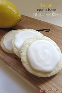 Lemon Vanilla Bean Sugar Cookies