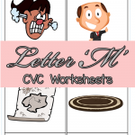 CVC Worksheets: M CVC Words