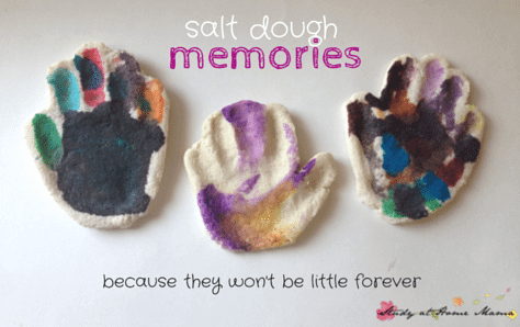 Salt Dough Memories: Because they won't be little forever. Save a bit of your child's littleness with this easy kids craft idea, because they won't be little forever.