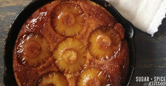 How to make a pineapple upside-down cake in a skillet