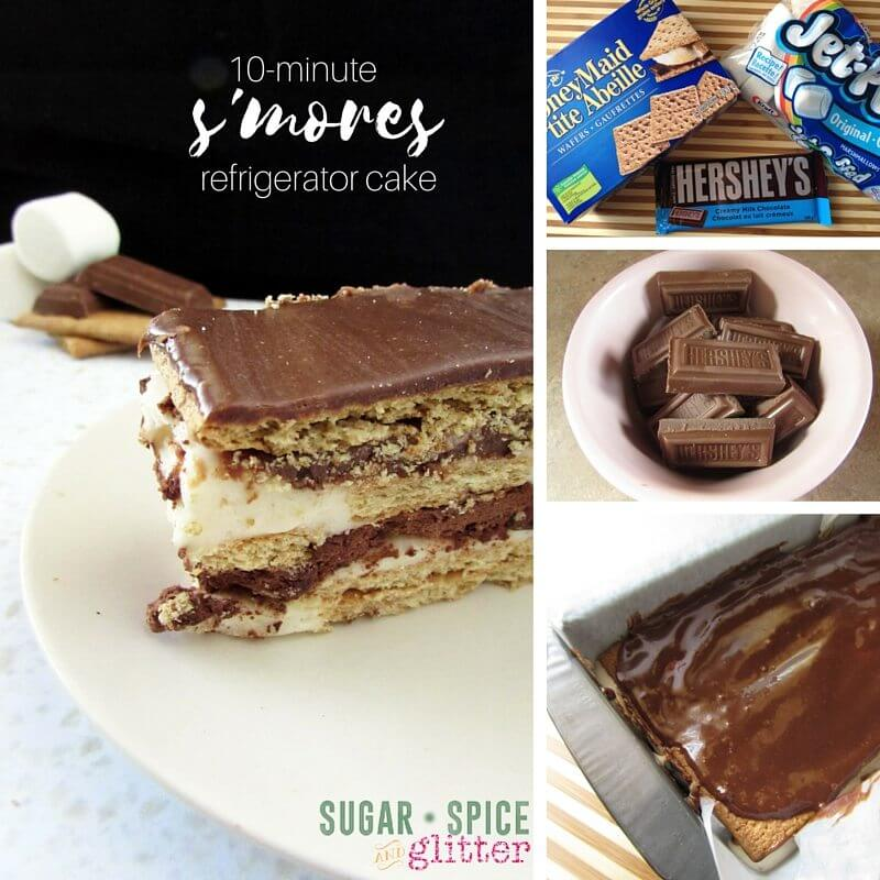 How to make the famous s'mores refrigerator cake - the perfect easy summer dessert when you don't want to turn on the oven!