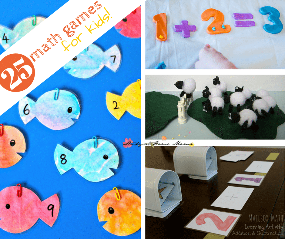25 Math Games for Kids! Teach math with these hands-on math activities sure to engage even the most reluctant math student