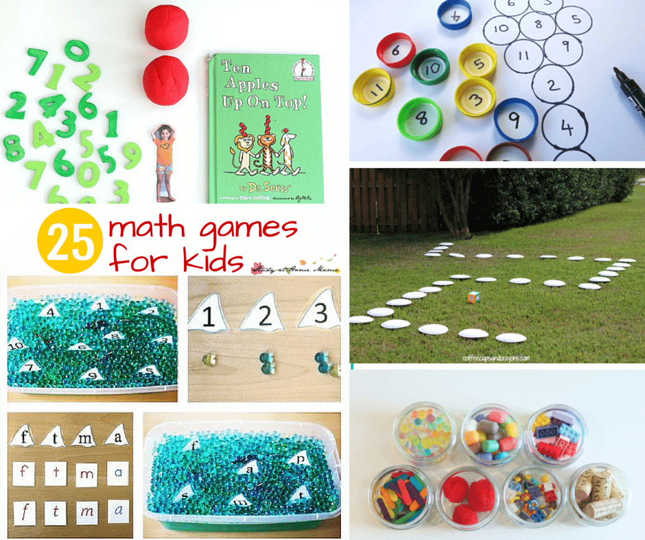 25 Math Games for Kids - this post has some amazing ideas for hands-on learning to get kids excited about learning math