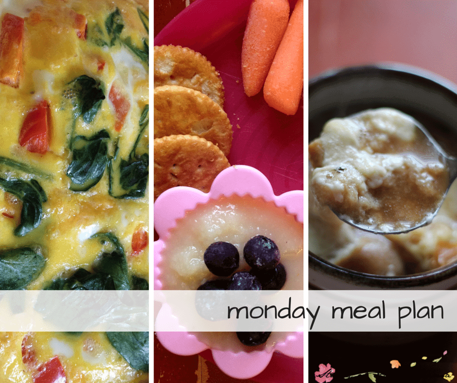 Monday Meal Plan - Day One of a 7 Day Healthy Meal Plan, complete with free printable meal plan and grocery list