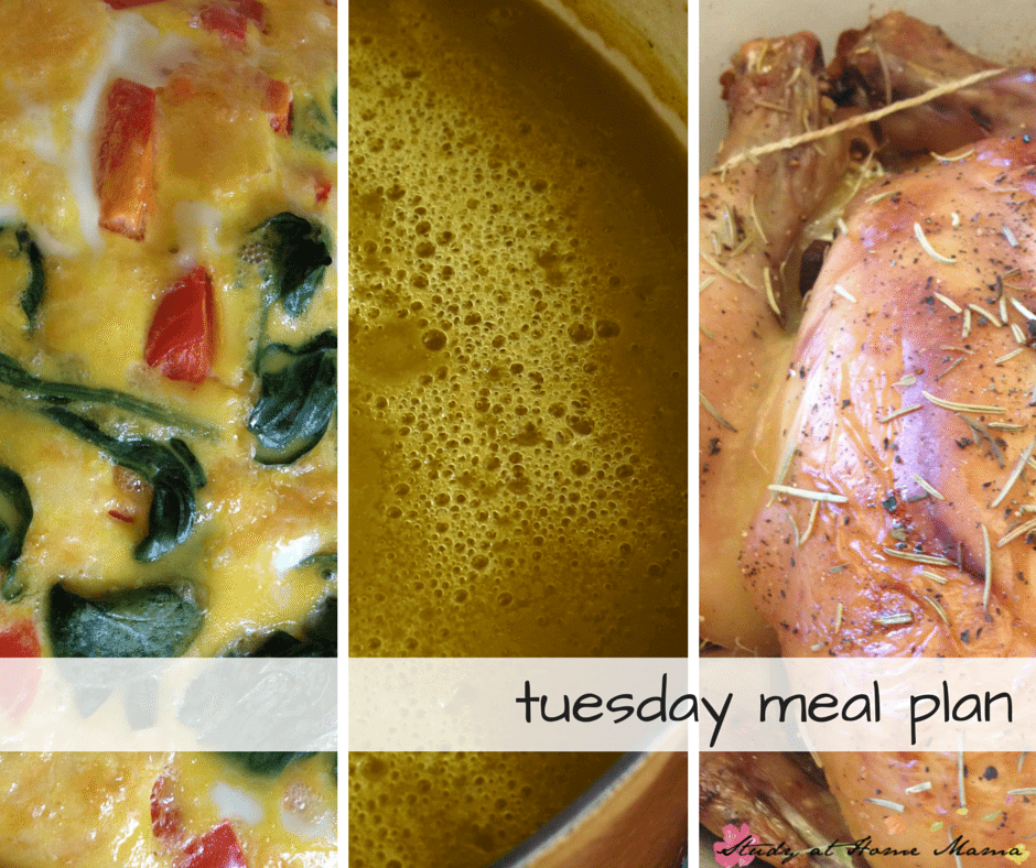 Tuesday Meal Plan - Day Two of a 7 Day Healthy Meal Plan, complete with free printable meal plan and grocery list