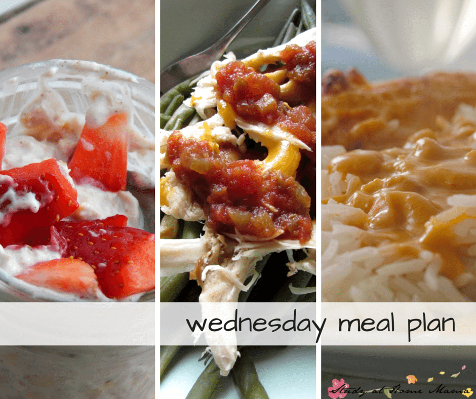 Wednesday Meal Plan - Day Three of a 7 Day Healthy Meal Plan, complete with free printable meal plan and grocery list