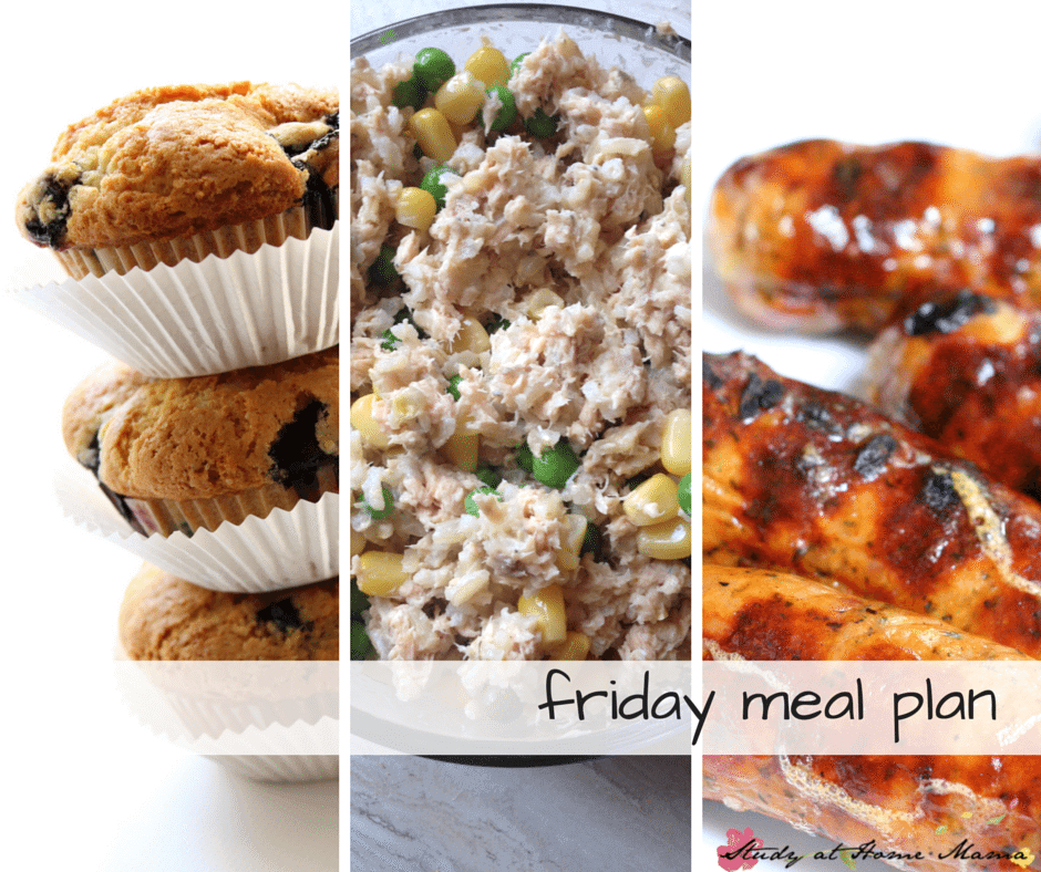 Friday Meal Plan - Day Five of a 7 Day Healthy Meal Plan, complete with free printable meal plan and grocery list
