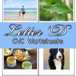 Letter D CVC Worksheets