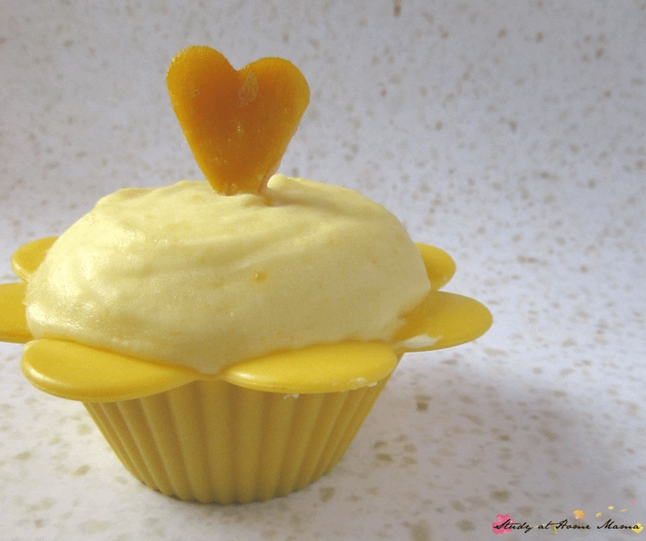 Mango Cupcakes with Fresh Mango Buttercream