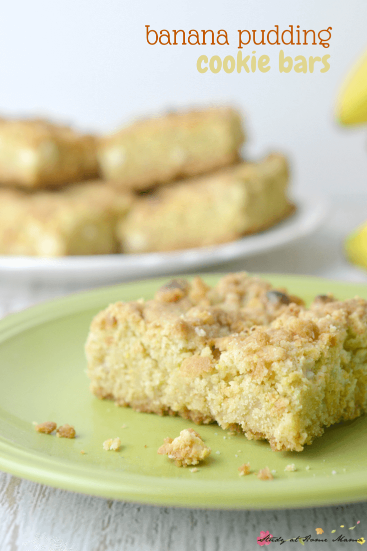 Banana Pudding Cookie Bars - a yummy and kid-friendly twist on this ...