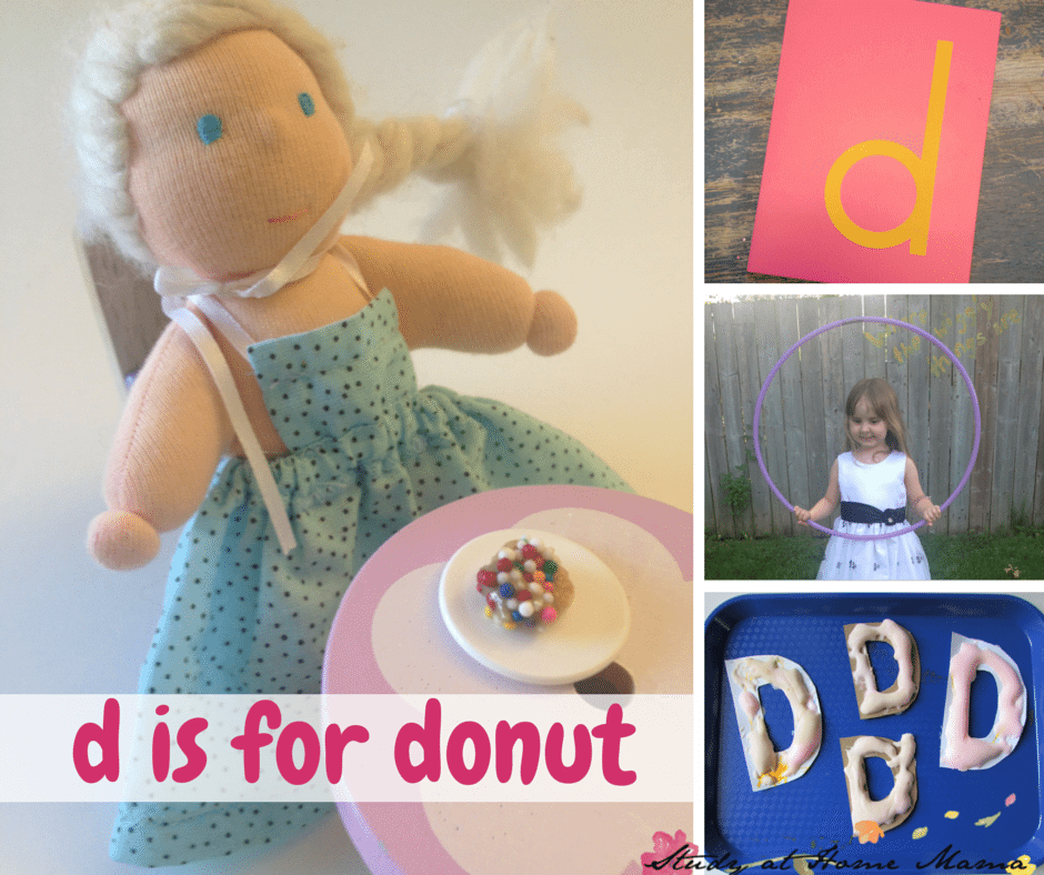"d is for donut unit study for learning letter sound ""d"" with donut crafts, donut gross motor activities, and more!"