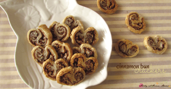 Homemade Cinnamon Bun Crackers - a gorgeous, delicious, and EASY snack - perfect for serving with coffee. So easy to make, the kids can make them!