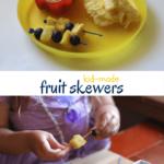 Kids Kitchen: Minion Fruit Skewers