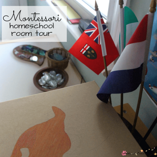 Montessori Homeschool Room Tour - can Montessori work at home? What does Montessori look like in the home? A Montessori parent shares her child's work space and how it works for them