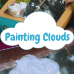 Painting Clouds Sensory Activity for Children