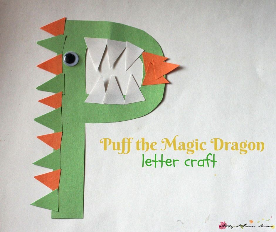 "Puff the Magic Dragon - Prechool letter craft for the letter ""P"""