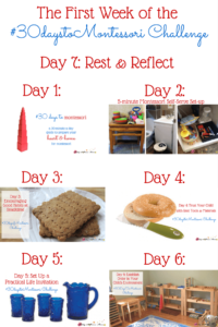 Day 7: Relax & Reflect on the First Week of the Challenge