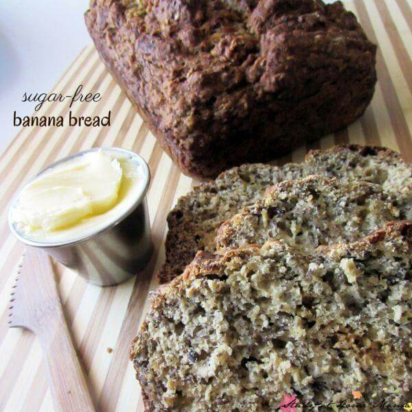 Sugar-free Banana Bread Recipe - an easy healthy recipe the whole family will love. Packed with protein, these are a great breakfast alternative or lunch box idea!