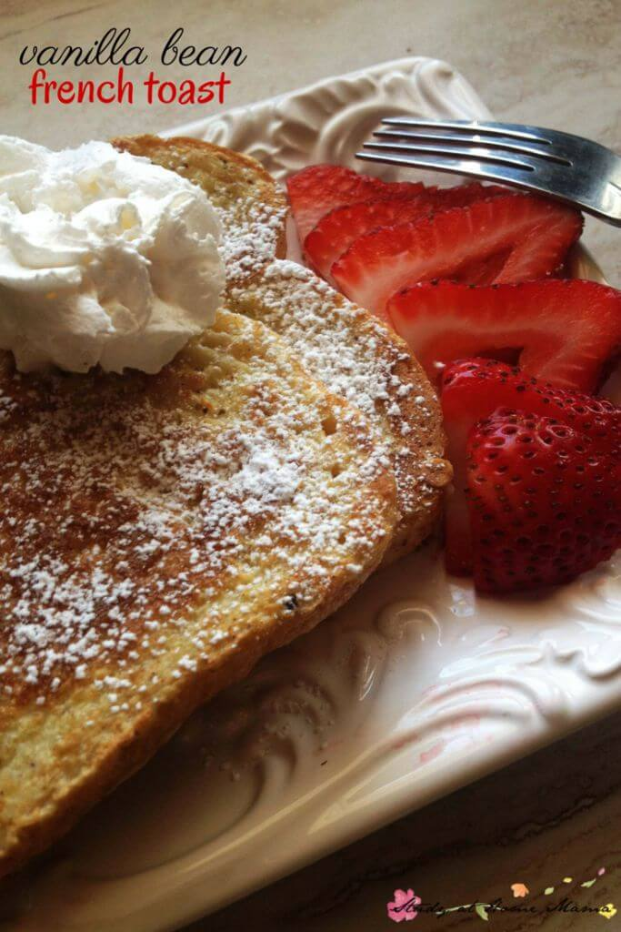 Easy Healthy Recipe for the Perfect Vanilla Bean French Toast - includes tips on how to make the best french toast you've ever had!